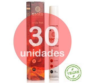 KIT30 - ORALE HOT SANTO - SABOR MORANGO - 30ML