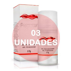KIT03 -  PEGASUS - GEL EXCITANTE MASCULINO - 17gr