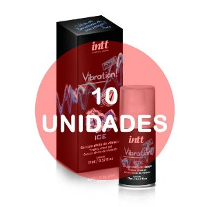 KIT10 - VIBRATION ICE GEL EXCITANTE BEIJÁVEL 17G