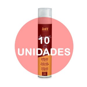 KIT10 - Lambuze Airless Gel Beijável Hot 50g  - Vodka com Energético