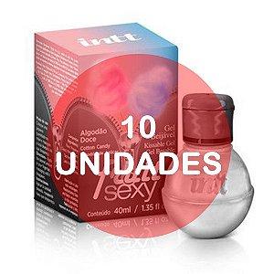 KIT10 - Fruit - gel sexo oral comestível com função de aquecimento e aroma Algodão Doce