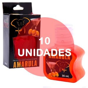 KIT10 - Gel comestível Hot 30ml - Amarula
