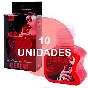 KIT10 - Gel comestível Hot 30ml - Cereja