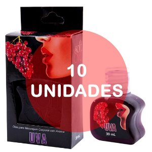 KIT10 - Gel comestível Hot 30ml - Uva
