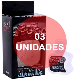 KIT03 - Gel comestível Ice 30ml - Black Ice