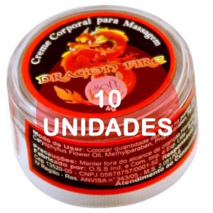 KIT10 - Dragon Fire aquecimento - pomada  4gr