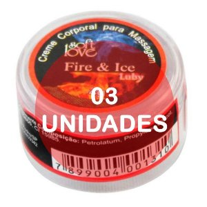 KIT03 - Fire & Ice  (esquenta e esfria) - pomada  4gr