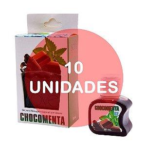 KIT10 - GEL COMESTÍVEL HOT 30ML - AROMA CHOCOMENTA