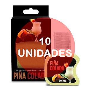 KIT10 - GEL COMESTÍVEL HOT 30ML - AROMA PINÃ COLADA