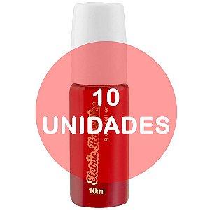 KIT10 - Gloss Gel Elétrico Hot Comestível 10ml - Morango com Champanhe