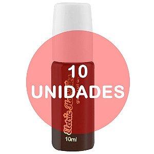 KIT10 - Gloss Gel Elétrico Hot Comestível 10ml - Morango com Chocolate