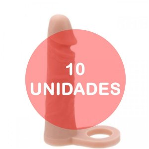 KIT10 - Anel peniano companheiro para dupla penetração 17 x 4 cm