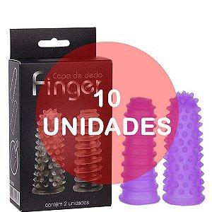 KIT10 - Dedeira capa de dedo reto lilas