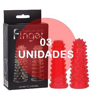 KIT03 - Dedeira capa de dedo reto vermelha