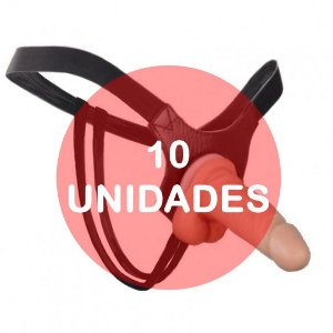 KIT10 - CINTA COM PENIS PEQUENO - 12 x 3,3 CM