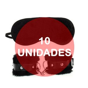 KIT10 - KIT ALGEMA E TAPA OLHO DE PELÚCIA - COR PRETA