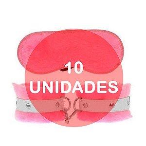 KIT10 - KIT ALGEMA E TAPA OLHO DE PELÚCIA - COR ROSA