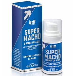 INTT SUPER MACHO - GEL POTENCIALIZADOR MASCULINO COM O PODER DO AZUL - 17 ML