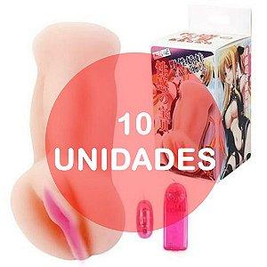 KIT10 - Masturbador vagina oriental em cyber skin com vibro