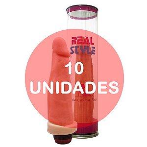 KIT10 - Pênis com vibrador 17cm (ideal para presente)