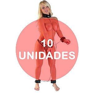 KIT10 - Conjunto de algemas e tornozeleiras em couro
