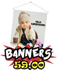 Banners temas diversos 60 x 90 cm