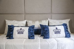 Enxoval de cama king blue