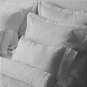 Enxoval  de cama 15 peças 100% algodão 300 fios branco romance