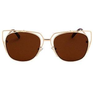 ATACADO Óculos de Sol Quadrado Bye Bye Dourado 6002 238de75bc0