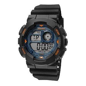 8e496d82bb8ea ATACADO Relógio Mormaii Preto Masculino Wave Digital MO3415A 8A