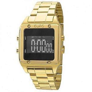 76a25a91efc37 Atacado Relógio Euro Feminino Eug2510aa 4p Quadrado Dourado