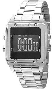 fa4396e980f Atacado Relógio Euro Feminino Eug2510ab 3p Original Quadrado Prata