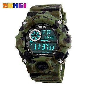bd5509579c4 ATACADO Relógio Original Skmei Camuflado Prova D água Masculino 1019
