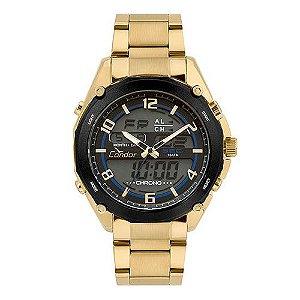 cee716d6800 ATACADO Relógio Condor Masculino Anadigi Dourado - COY121E6AA 4P