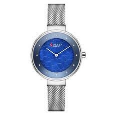 Relógio Feminino Curren Analógico C9032L - Prata e Azul