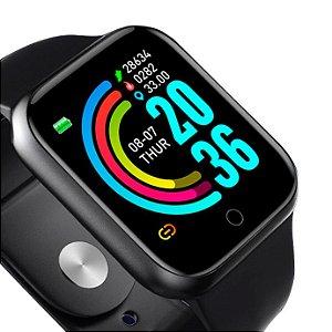 Y68 Relógio Inteligente Bluetooth Esporte SmartWatch Preto