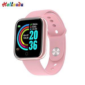 Y68 Relógio Inteligente Bluetooth Esporte SmartWatch Rosa
