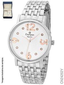 Atacado Kit relógio Champion + semijoias CN24262Y