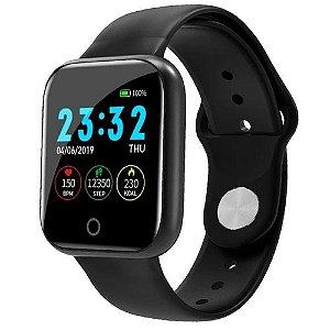 Smartwatch I5 – com monitoramento fitness preto