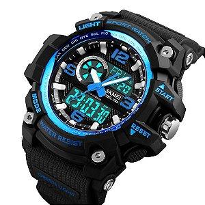 Relógio Masculino Skmei AnaDigi 1283 Preto e Azul