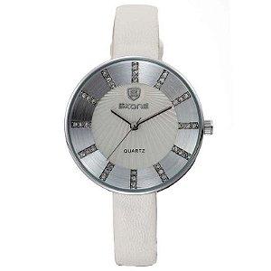 Relógio Feminino Skone Analógico casual 9250 Branco