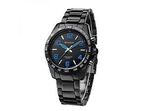 Relógio Masculino Curren Analógico Casual 8107 Preto