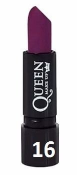 Batom Matte Queen Make Up  Cor 16