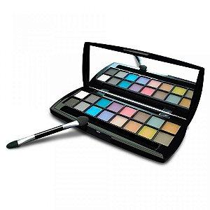 Paleta de Sombras Foscas com 16 cores Matte Mia Make 15000