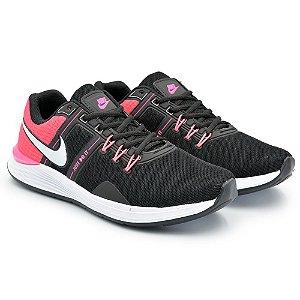 Tênis Feminino Caminhada Esportivo Nike Just do It - Preto/Rosa