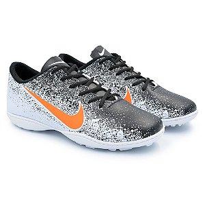 Chuteira Society Nike Mercurial Vapor 12 Academy - Branco/Preto