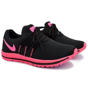Tênis Feminino Caminhada Esportivo Nike Confort - Preto/Rosa