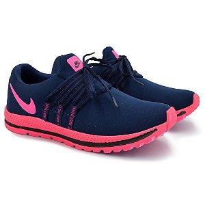 Tênis Feminino Caminhada Esportivo Nike Confort - Marinho /Rosa