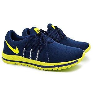 Tênis Masculino Caminhada Esportivo Nike Confort - Marinho/Verde