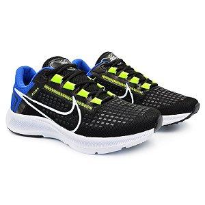 Tênis Masculino Caminhada Esportivo Nike Air Zoom Pegasus 38 - Preto/Azul